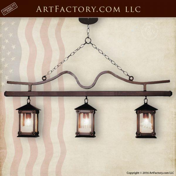Iron Craftsman Lantern Chandelier