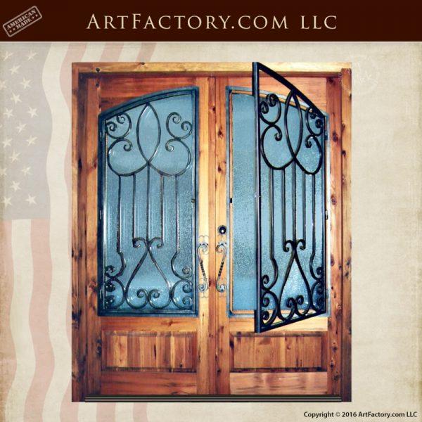 decorative glass double doors