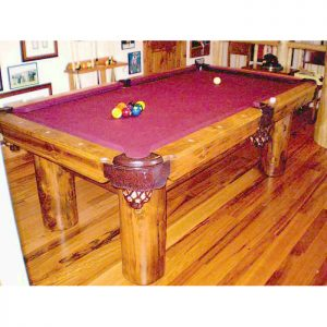 Pool Table Wilderness Theme 19th Cen Pool Table
