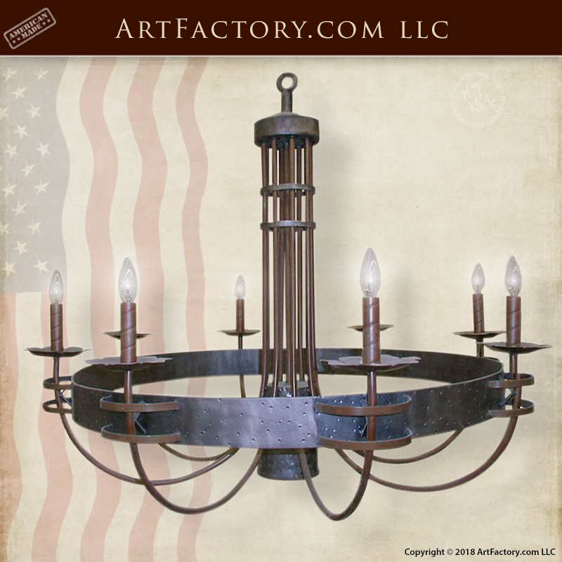 Solid Iron Chandelier