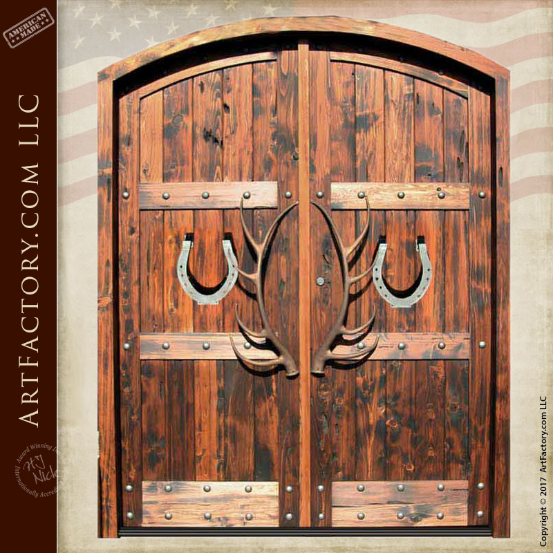 Custom Double Entry Doors Western Style 8390rp
