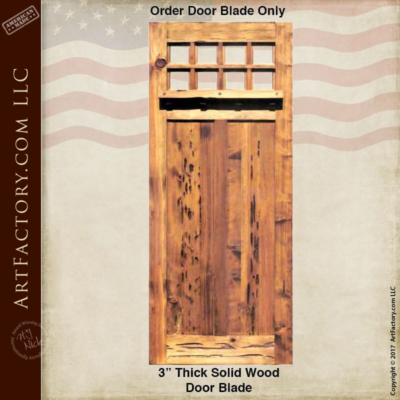 colonial inspired wooden door