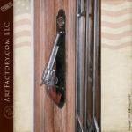 Colt 45 Door Pull Custom John Wayne Hand Carved Door