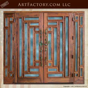 craftsman style entrance doors