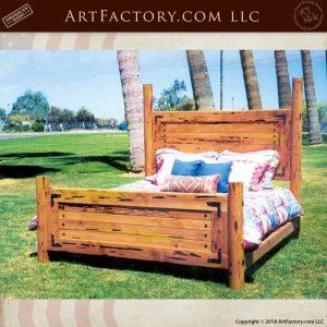 custom craftsman king bed