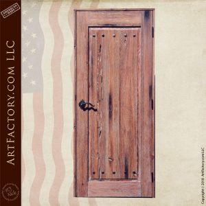 custom handmade wood door