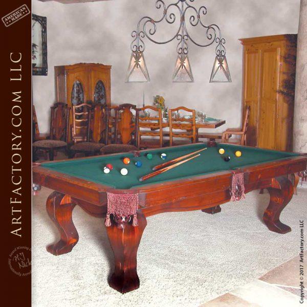 custom solid wood pool table