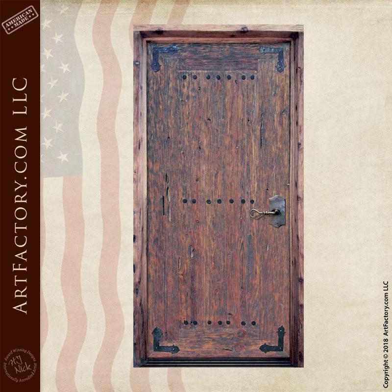 custom weathered wood door