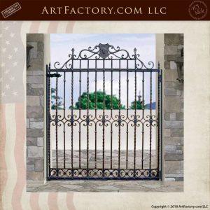 decorative iron side gate