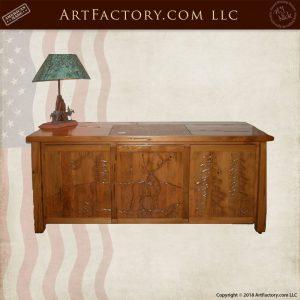 elk carved credenza