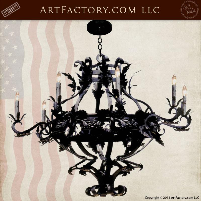 fine art vine chandelier