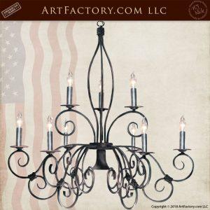 French ironwork chandelier