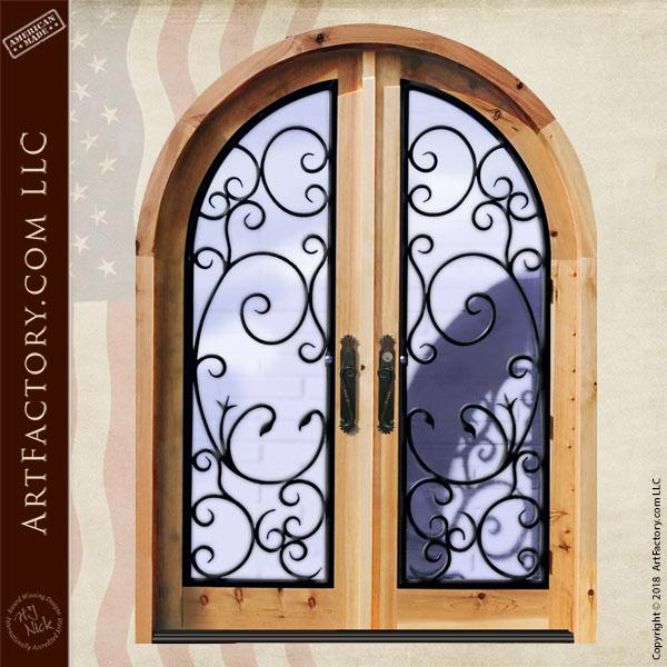 French ironwork double doors