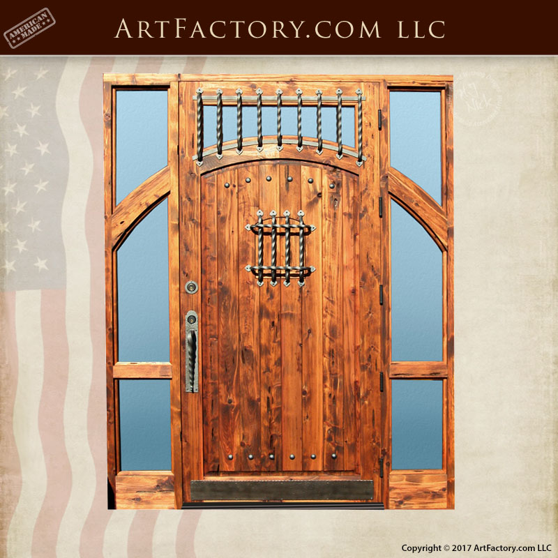 Grand Entrance Castle Door With Transom Sidelights And Speakeasy u2013 8050RP & Grand Entrance Castle Door: With Transom Sidelights And Speakeasy