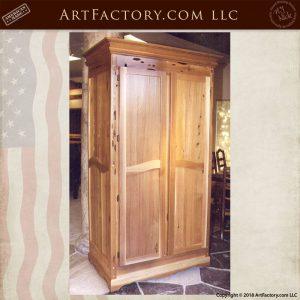 handmade custom wooden armoire
