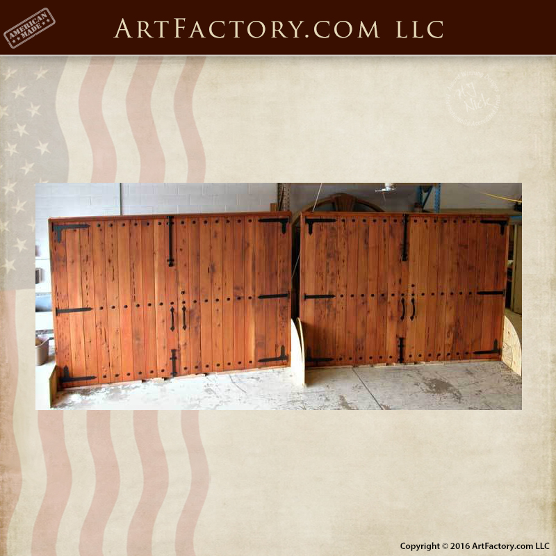 High Quality Exterior Doors Jefferson Door: Solid Arched Carriage Style Design