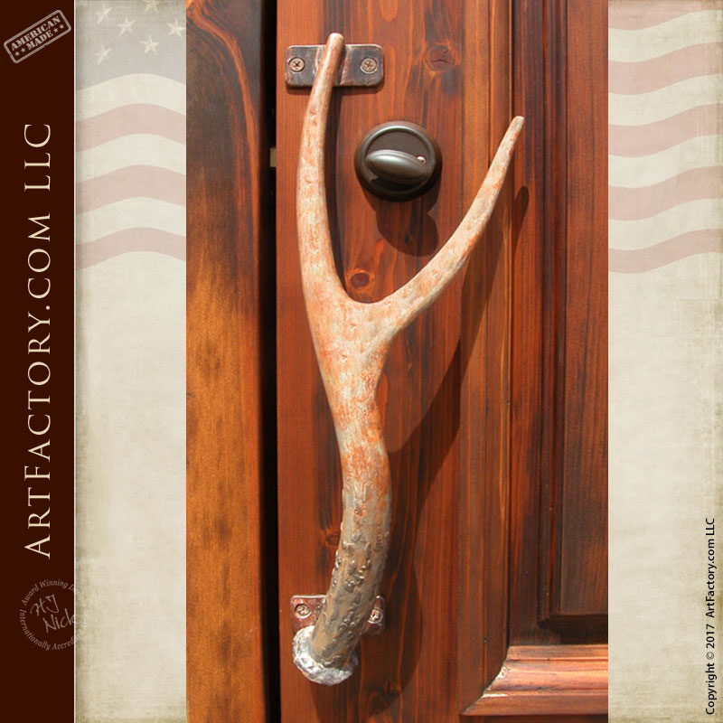 Deer Door Handles Amp Deer Horn Shape Wrought Iron Door Handles
