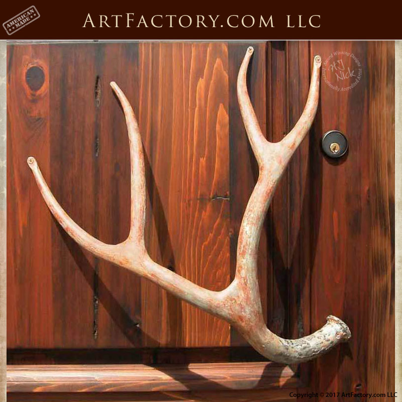 Attirant Iron Deer Antler Door Pulls: Custom Blacksmith Hand Forged Hardware U2013 HH146