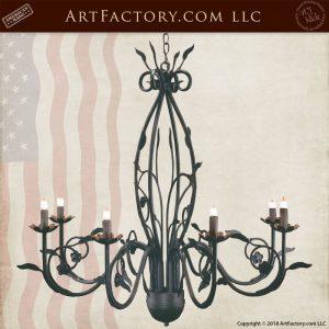 custom floral iron chandelier