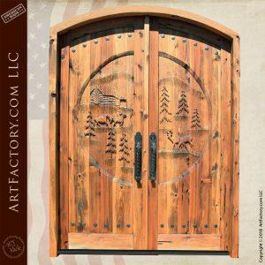pine forest double doors