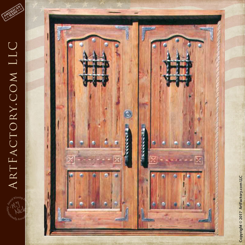 rustic fortress double doors
