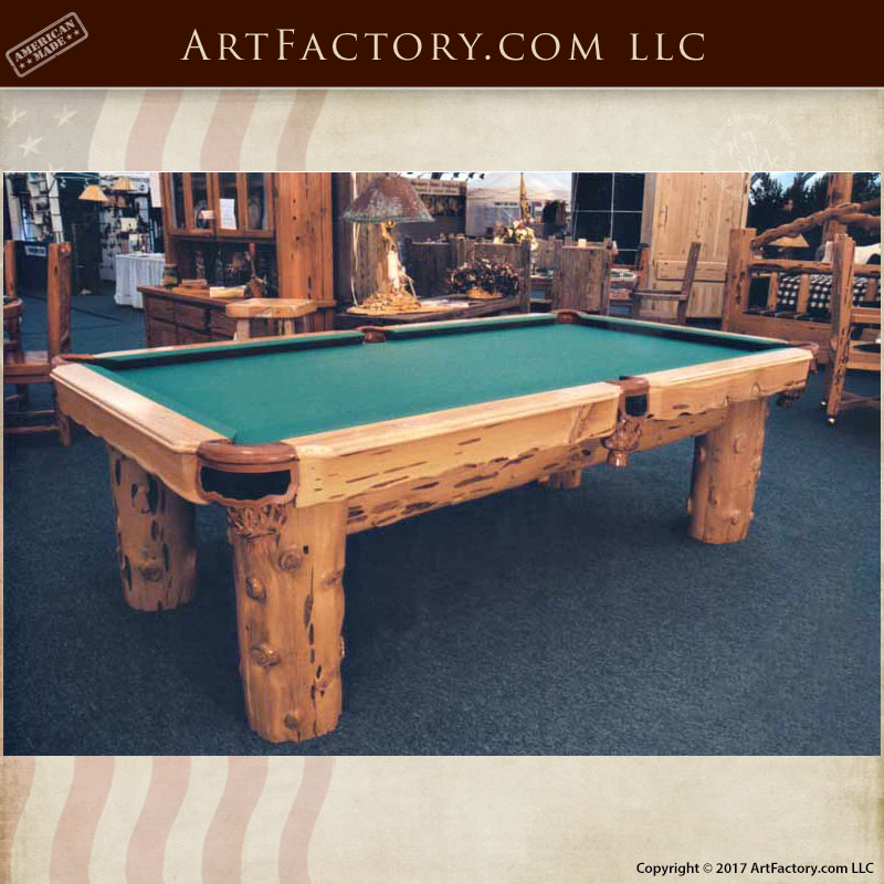 Rustic Pool House Designs: Rustic Lodge Pool Table: Custom Designs Inspired By The