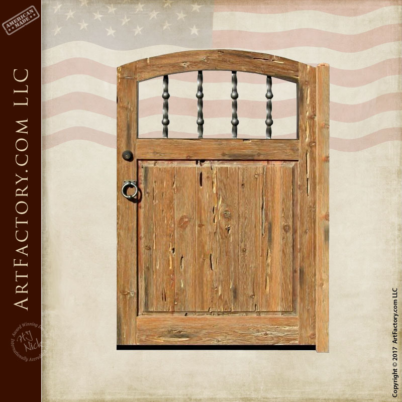 rustic wooden courtyard gate