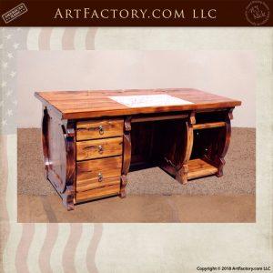 baroque inspired wooden desk