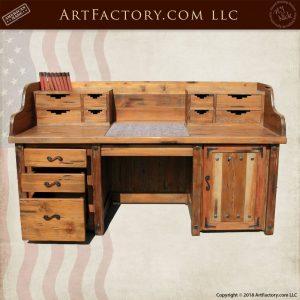 solid wood craftsman desk