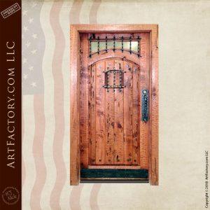 vertical planked speakeasy door