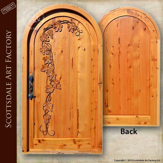 Wine doors custom vineyard cellar door