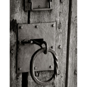 Wrought Iron Ring Pull With Slide Bolt
