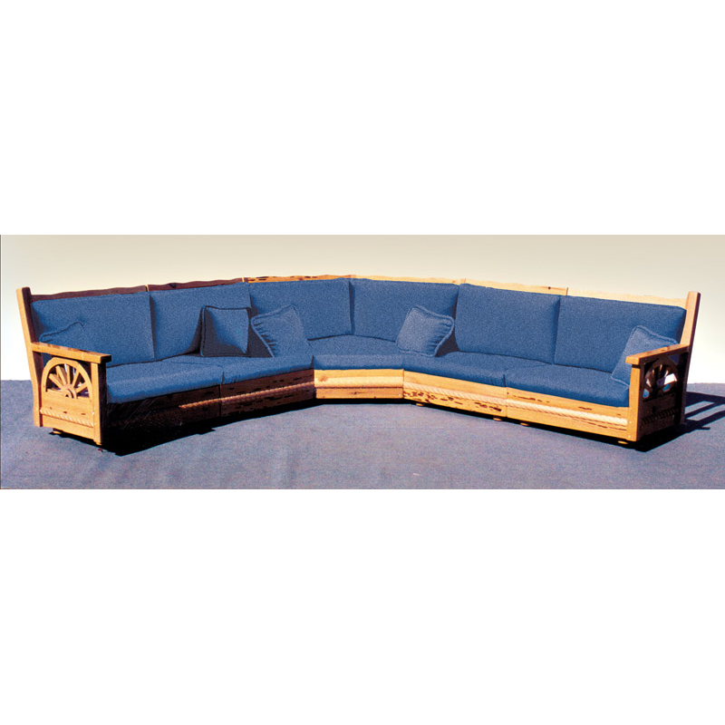 Arts & Craftsman Sectional Sofa | Western Mission Sofa ...