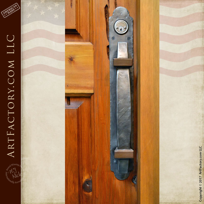 English lodge style door pull