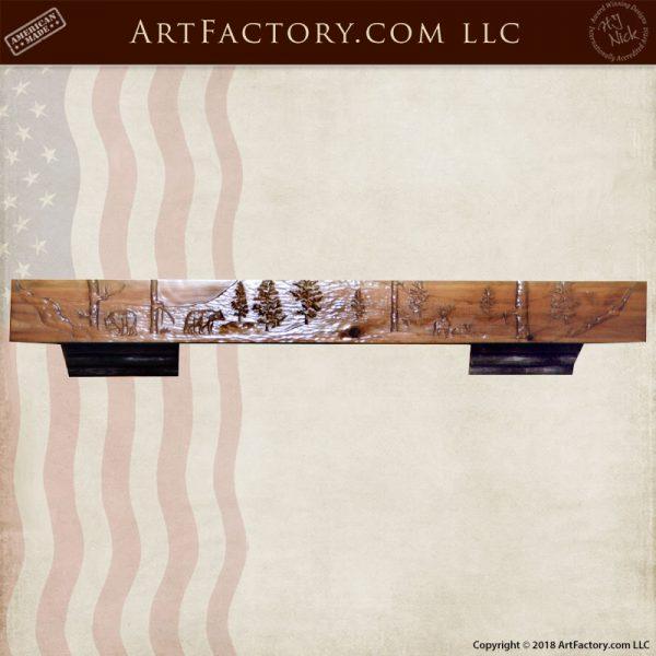 fine art fireplace mantle