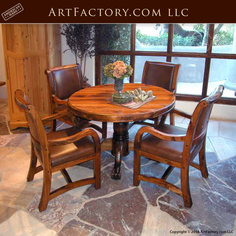 Fine Dining Room Tables: Round French Dining Table: Fine Art Quality Dining Room Furniture