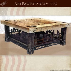 western style coffee table