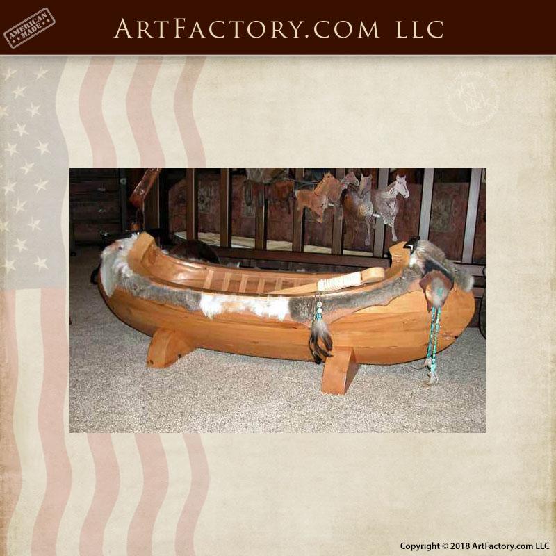 Arapaho canoe inspired coffee table