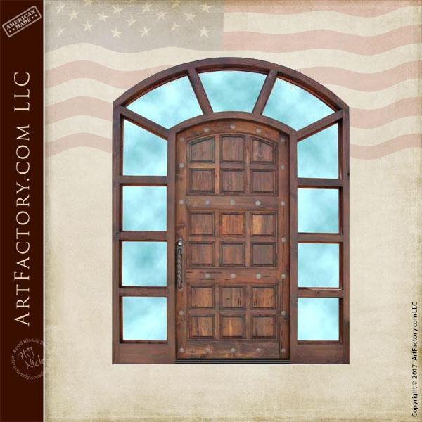 multi panel wooden front door