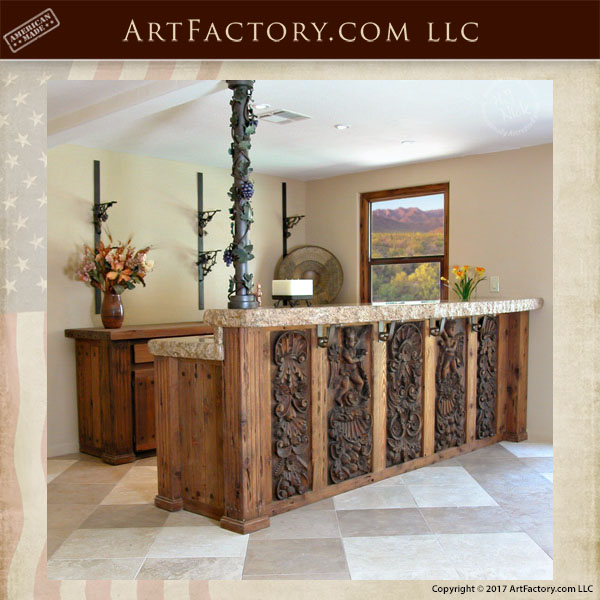 Victorian hand carved bar