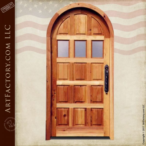 raised panel arched door