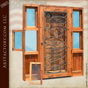 custom handcrafted Dutch door