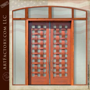Basket Weave Double Doors