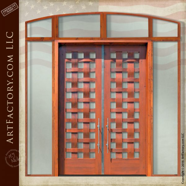 Basket Weave Double Doors