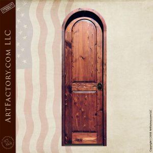 2 panel arched door