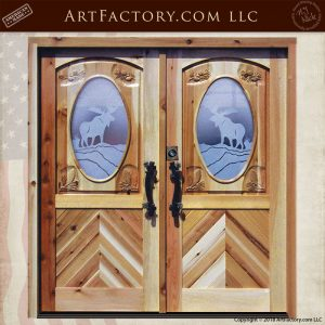 etched glass lodge doors