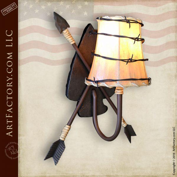 Crossed Arrow Light Sconce