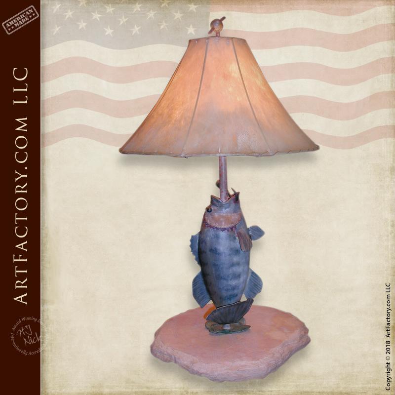 Fine Art Bass Iron Table Lamp