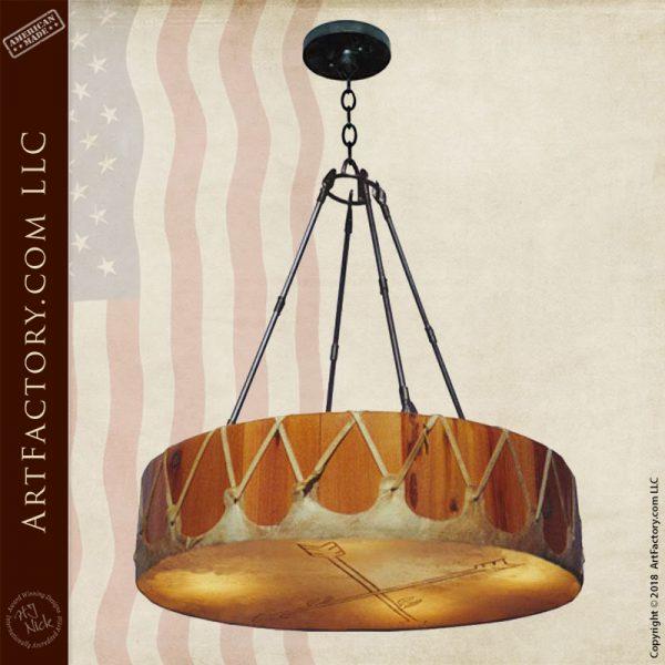 custom arrow drum chandelier