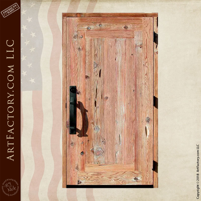 custom weathered wood door back